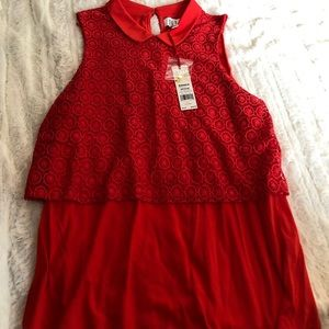 Elle- Dressy Red Tank- New With Tags- Size M